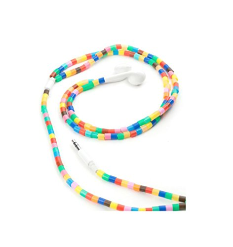 Kikkerland Beaded Ear Buds, Multicolored