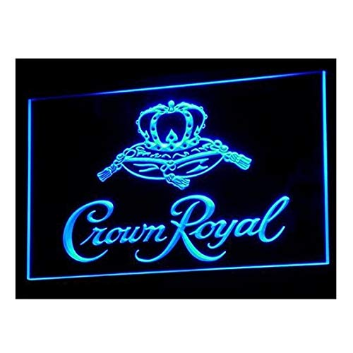- Crown Royal Whiskey beer Bar LED Neon Light Sign Man Cave A104-B