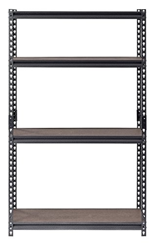 Muscle Rack UR361860PB4-WGB Steel Shelving in Silver Vein with Painted Board, 60