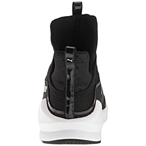 PUMA Women's Fierce Core Sneaker, Black White, 8 M US