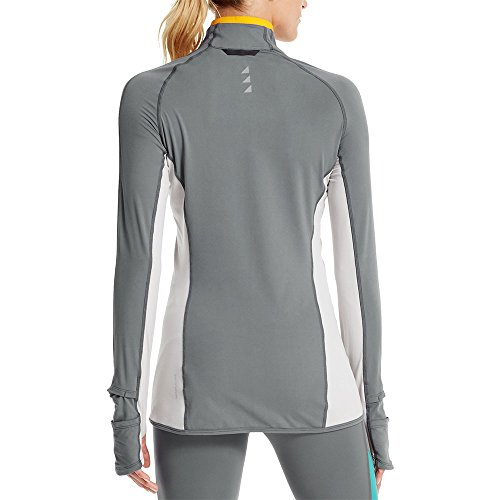 Mission Women's VaporActive Stamina Lightweight 1/4 Zip Long Sleeve Shirt, Quiet Shade/Lunar Rock, Large by Mission (Image #2)