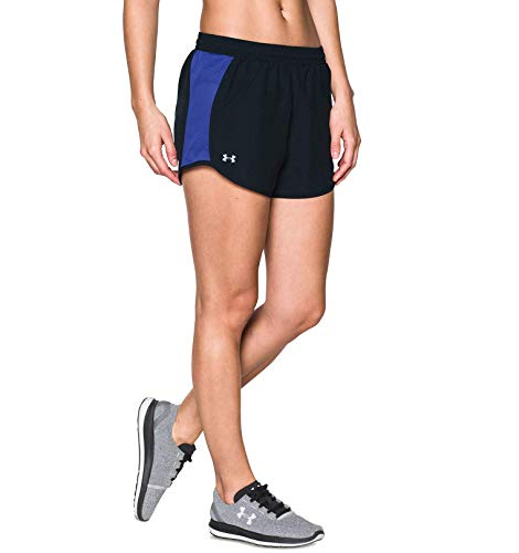 Under Armour Women's Fly By Training Shorts Black/Constellation Purple Medium
