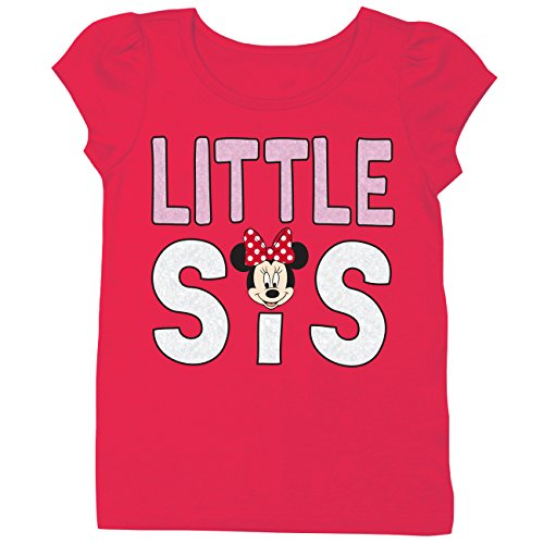 Disney Mickey and Minnie Mouse Siblings T-Shirt (2T, Little Sis)