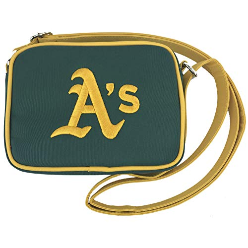 (Charm 14 Cross Body Purse with Touchscreen for All Smartphones - Retail Packaging - Oakland Athletics )