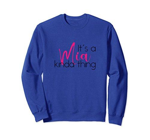 Mia T-shirt Sweatshirt - Unisex First Name Mia Long Sleeve Personalized Sweatshirt for Women XL: Royal Blue