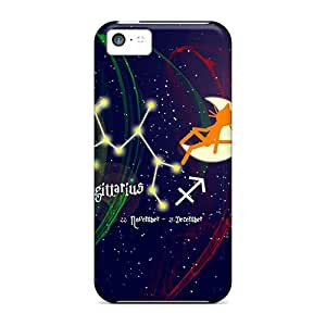 Tpu Case Cover Compatible For Iphone 5c/ Hot Case/ Cat Kittycat Zodiac Sign Sagittarius