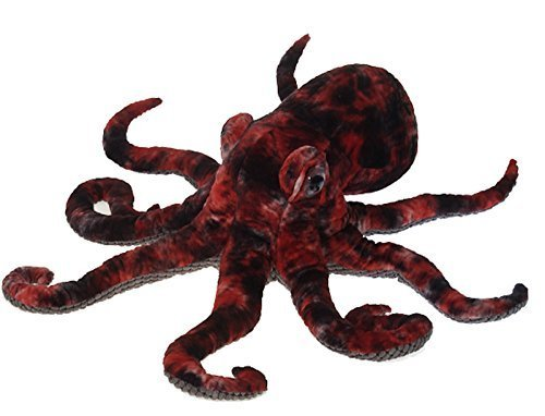 Fiesta Toys Red Octopus Plush Stuffed Animal Toy - 16