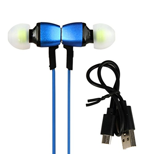 Bluetooth Microphone Stereo Sports Headset For IPhone (blue) (Blue Dual Bud Stereo)