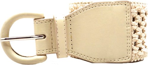 Style & Co. Women's Belt Natural Stretch Med / Large