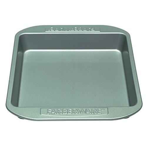 Farberware Nonstick Bakeware 9-Inch Square Cake Pan, Gray (Small Square Cake Pan compare prices)