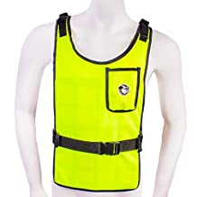 High Vis Lime with Self Charging Cooling Vest with Inserts (78°F)