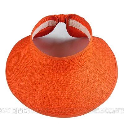 À l'été, chapeaux de plage sports loisirs plein air chapeau pliable mode chapeau de soleil, des profils, Orange