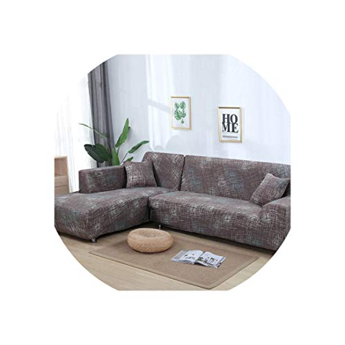 Sofa Coverl Shaped Sofa Cover Elastic Blue Sofa Covers for Living Room Couch Cover Sofa Slipcovers for Armchairs 1-4-Seater,Color 18,3-Seater(195-230Cm) ()