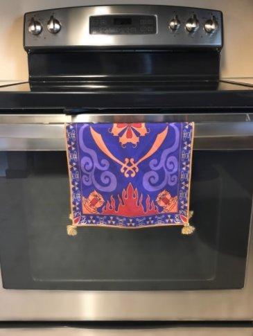 Tassels Placemat Magic Carpet Dish Towel Hand Towel Face Towel Tea Towel Inspired by Disney Aladdin Magic Princess Whitney