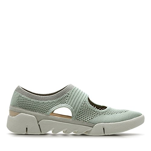 Clarks Tri Blossom Textile Shoes in Light Green YW7Ynss