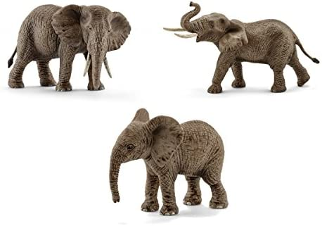 Schleich Wild Life African Elephant Family Animal Figure Set