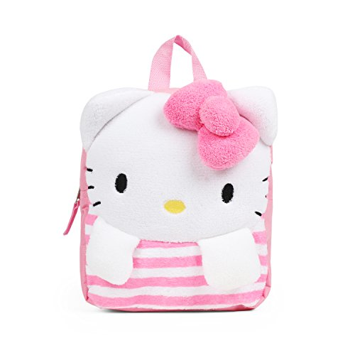 Sanrio Hello Kitty Pink Plush Raschel 12 inches Mini Backpack for Girls