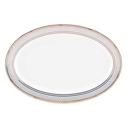 Lenox Gorham Chancellor Oval Platter, White/ Blue