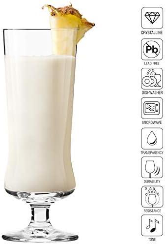 Krosno Copas Pina Colada Cóctel Vasos | Conjunto 6 Piezas | 300 ML | Avant-Garde Collection Uso en Casa, Restaurante y en Fiestas | Apto para ...