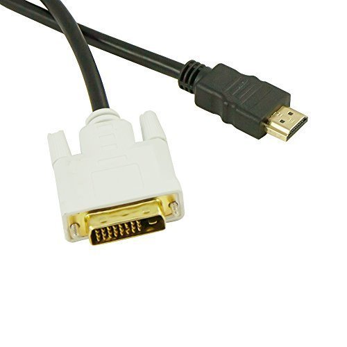 Dvi Socket (Fullink Gold-Plated DVI-D Dual Link Male to HDMI to Female Adapter - 4K Resolution Ready)