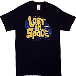 Lost In Space Sci-Fi Sixties TV Series Logo Men's T-shirt (Large)