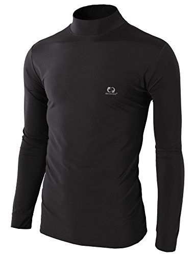 H2H SPORT Mens Napping Lining Knitted Warm Active Turtleneck T-Shirts DARKGRAY US L/Asia XXL (KMTTL0311)
