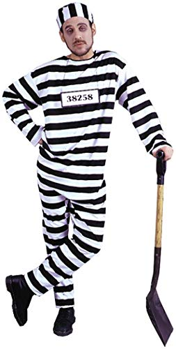 Plus Size Jail Halloween Costumes (Fun World Men's Jailbird Plsz Cstm, Multi, Plus)