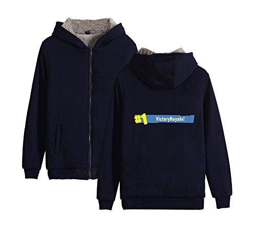 Giacche Donne Dark Fortnite Unisex Pullover Con Pile Lunghe Sweatshirt Maniche Cerniera Blue2 Hoodie Cappuccio Invernale Uomo E Calda Fashion Per Felpe Ailient pgqfwn8f