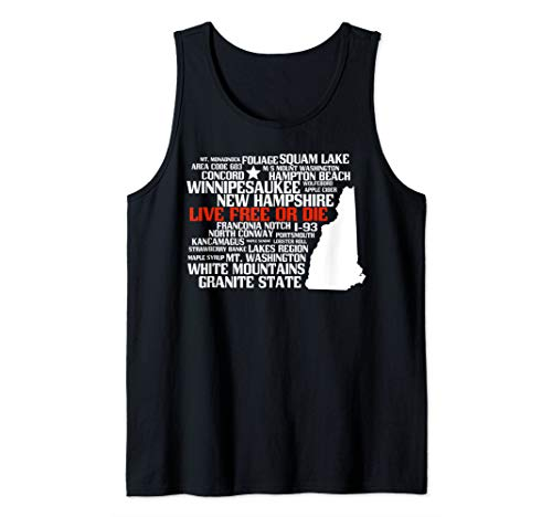 New Hampshire Map with Best Places Tank Top