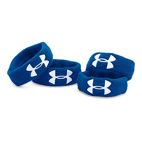 "(Under Armour UA 1"" Performance Wristband 4-Pack OSFA Royal)"