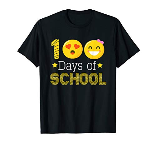 100th Days of School Kindergarten Teacher Emoji Shirt -