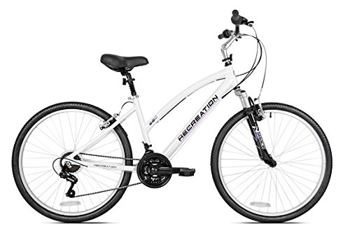 Recreation Women's 26C Comfort Bike, White, 18″/Large