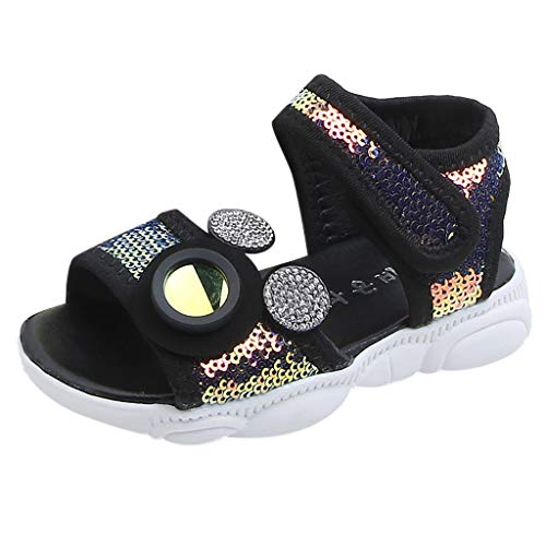 Leisuraly 2019 New Baby Sandals, Children Baby Girls Boys Girls Mesh Bling Sequins Sport Sneakers Sandals Shoes ()