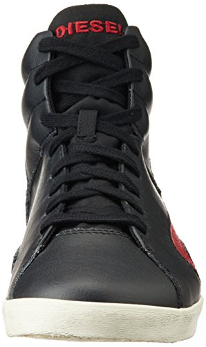Diesel Y01166 E-Klubb Hi P0611, Zapatillas para hombre Multicolor (Black/Chili Pepper H5644)