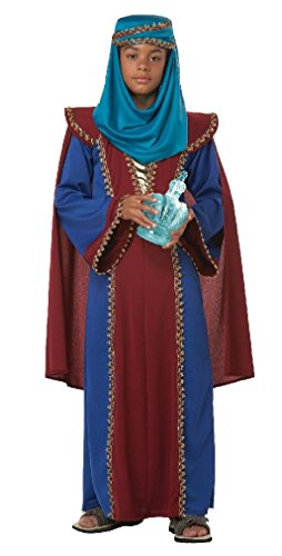 [Fancy Arabian The Three Wise Men Balthasar of Arabia Child Costume Christmas Nativity] (Black Arabian Princess Costume)