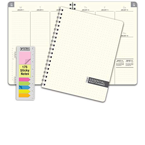 Essential 8.5x11 Monthly & Weekly 2019 Planner - 14 Months (November 2018 Through December 2019) - Professional, Simple, Easy-to-Use Design. FROSTED VINYL COVERS for extra protection ()