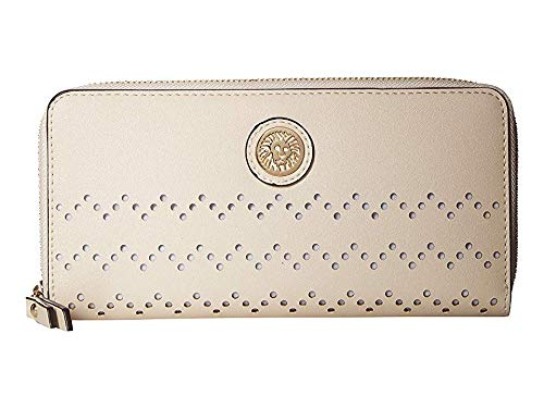 Anne Klein Women's Zip Around Wallet Oyster One Size