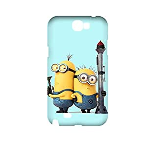 Generic Hard Plastic Back Phone Case For Teen Girls Design With Despicable Me Minions For Samsung Galaxy Note2 Full Body Choose Design 1-11