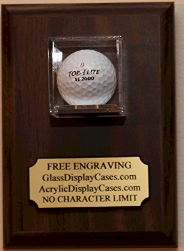 - Golf Ball Hole in One Wall Display Case Plaque