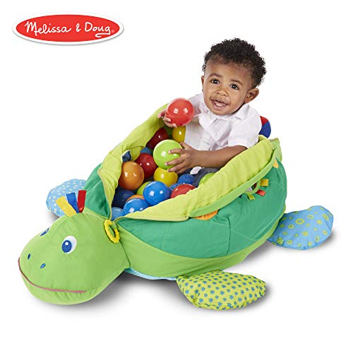 Melissa & Doug Turtle Ball Pit (Baby Toy, 60 Balls) ()