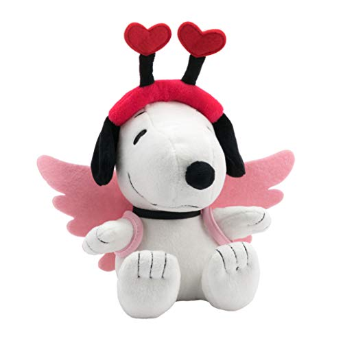 (Hallmark 6MJV3572 Snoopy Plush Cupid, White)