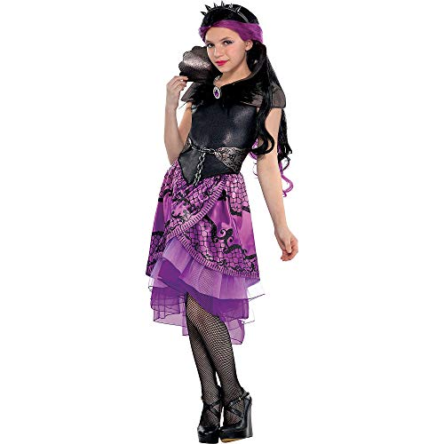 (Ever After High Raven Queen Hallowen Dress Costume Supreme for Girls, Medium, with Included Accessories, by)