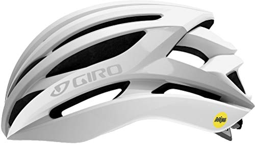 Giro Syntax MIPS Cycling Helmet - Matte White/Silver Medium ()