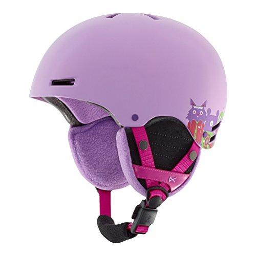 Girls Snowboard Helmet (Anon Youth Rime Helmet, Wildlife Purple,)