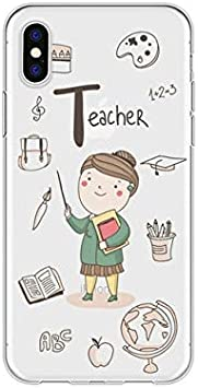 ASJK Caricatura Linda profesión Profesora Funda de teléfono Suave Coque para iPhone 5 6 6s x XR Plus Funda Transparente para iPhone 8 7 Plus para iPhone XR j5103: Amazon.es: Hogar