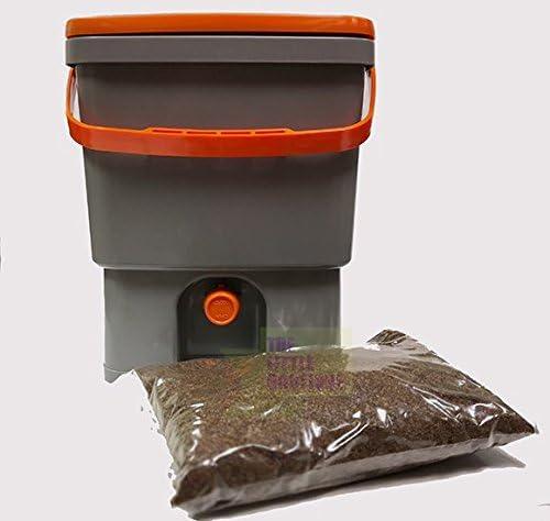 Compostador de cocina Biobox 20L, incluye 1/2kg de activador Bio (Bio MW fórmula concentrada +) – Ofrece: compost sin olores, sin lombrices: Amazon.es: Jardín