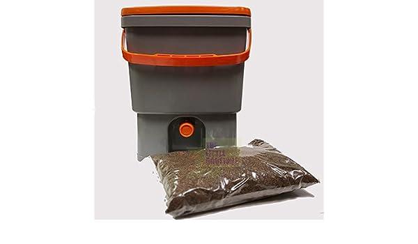 Compostador de cocina Biobox 20L, incluye 1/2kg de activador Bio (Bio MW fórmula concentrada +) – Ofrece: compost sin olores, sin lombrices: Amazon.es: ...