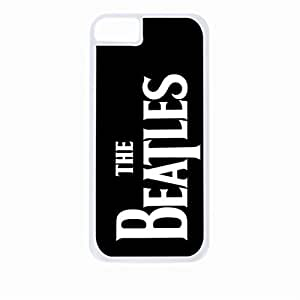 The Beatles- Hard White Plastic Snap - On Case with Soft Black Rubber Lining-Apple Iphone 5 - 5s - Great Quality!