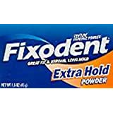Fixodent Denture Adhesive Powder Extra Hold 1.6 oz. (3-Pack)