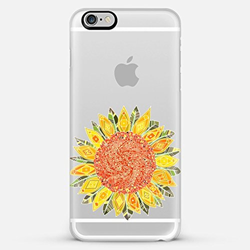 Casetify single bright sunflower transparent - iPhone 6 Plus Case (Frosty White)